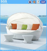 Resort Hotel Leisure Furniture White Rattan Daybed