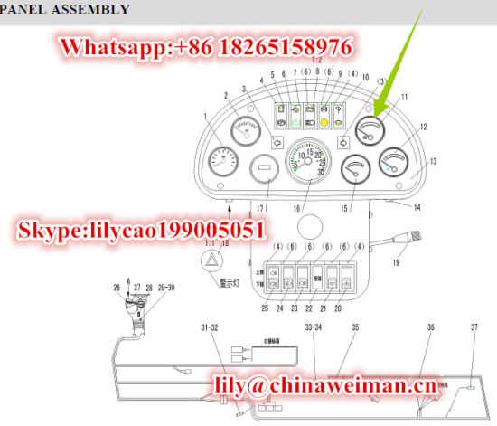 Sdlg LG936 LG938LG956 LG968 Wheel Loader Spare Parts Engine Water Temperature Gauge Sw201c 4130000289