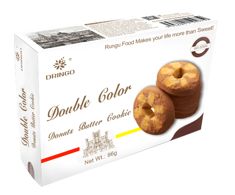 Double Colors Donuts Butter Cookie