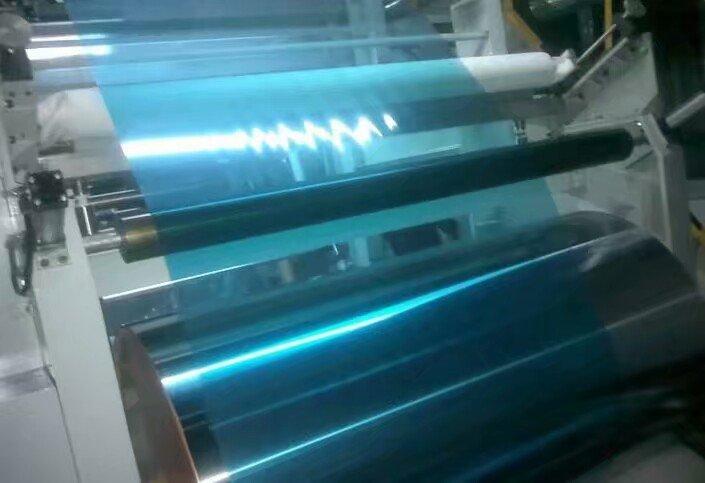 blue PE/PVC film