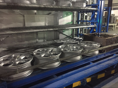 basket less Al Wheel heat treatment line