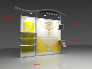 Portable Exhibition Case : Aluminum portable exhibition wall display trade show booth stand