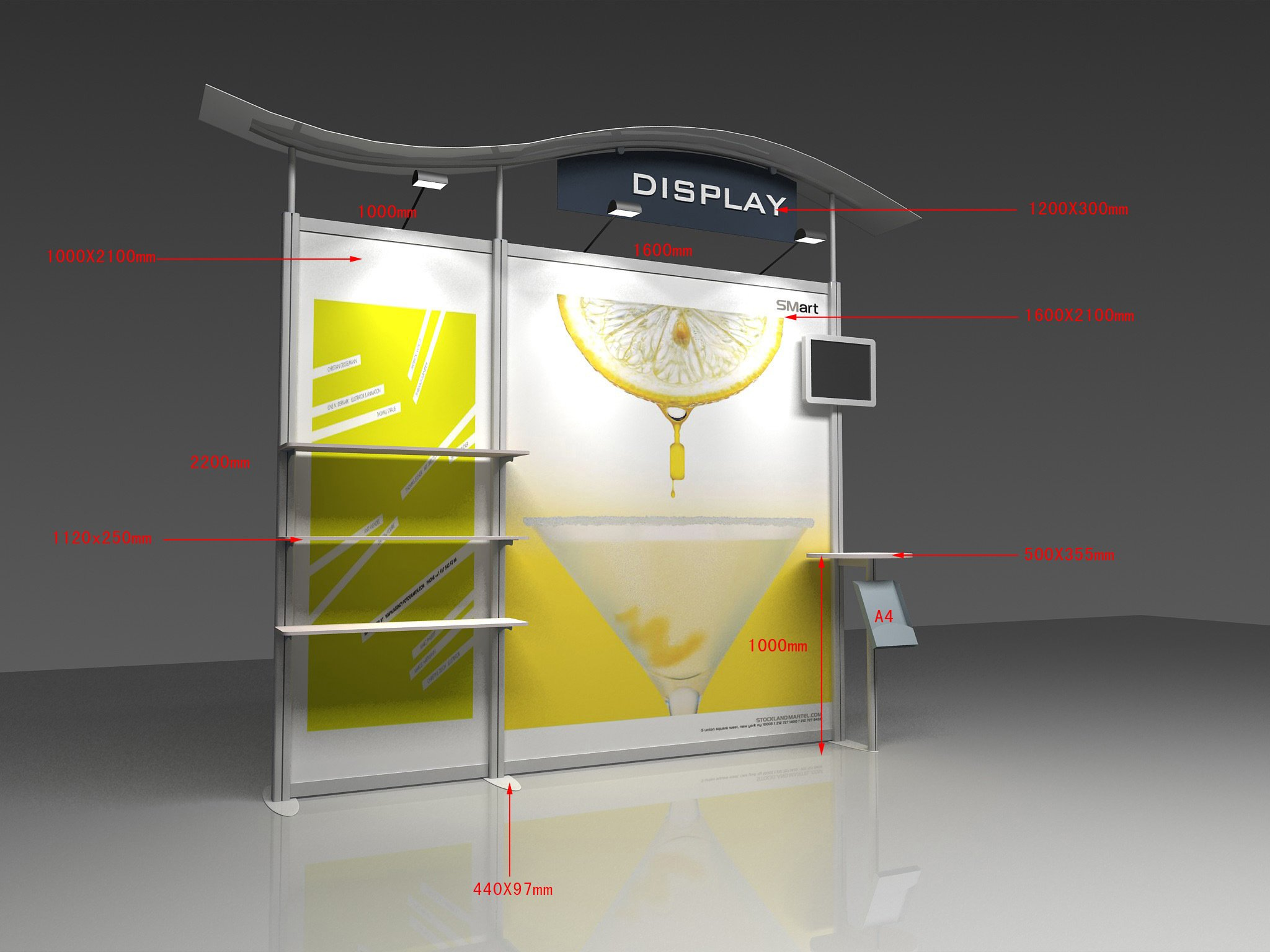 Exhibition Stand Wall : Aluminum portable exhibition wall display trade show booth stand