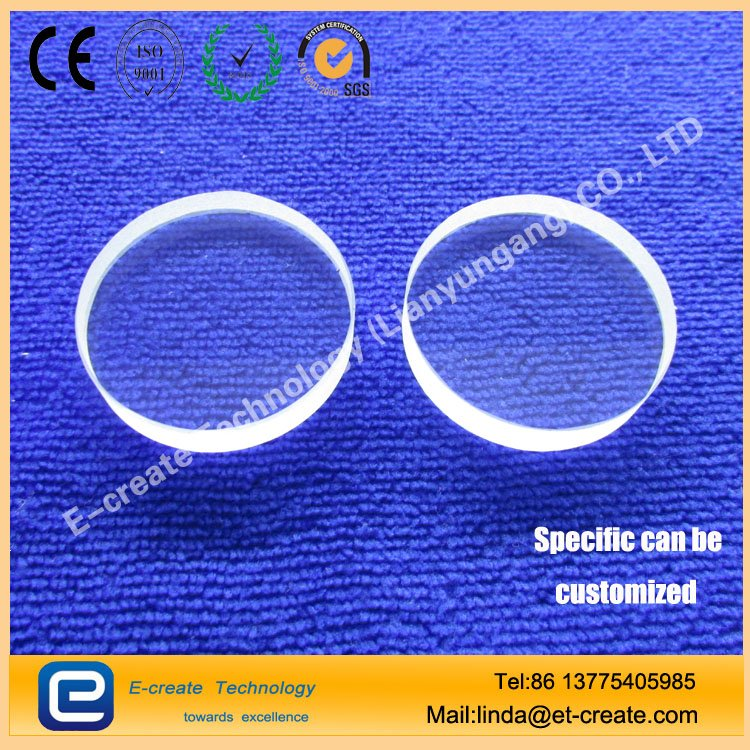 Quartz film corrosion-resistant optical slides optical lens 30mm * 30mm * 1mm can be customized to do