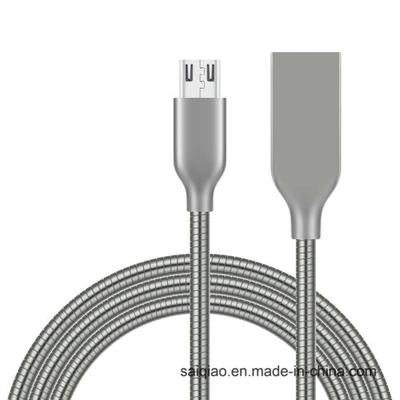 Zinc Alloy Steel Pipelines Charging Data USB Cable for Android
