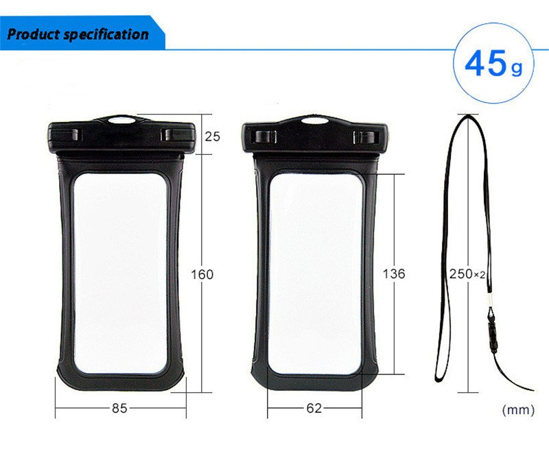 Universal Waterproof Mobile Phone Swimming Bag/Pouch for iPhone 6