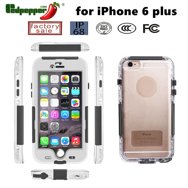 Full Cover Protective Waterproof Case for iPhone 6 Plus