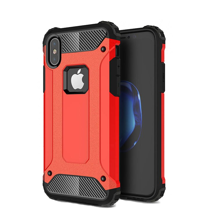 New Shockproof Armor PC+TPU Protective Phone Case for iPhone X
