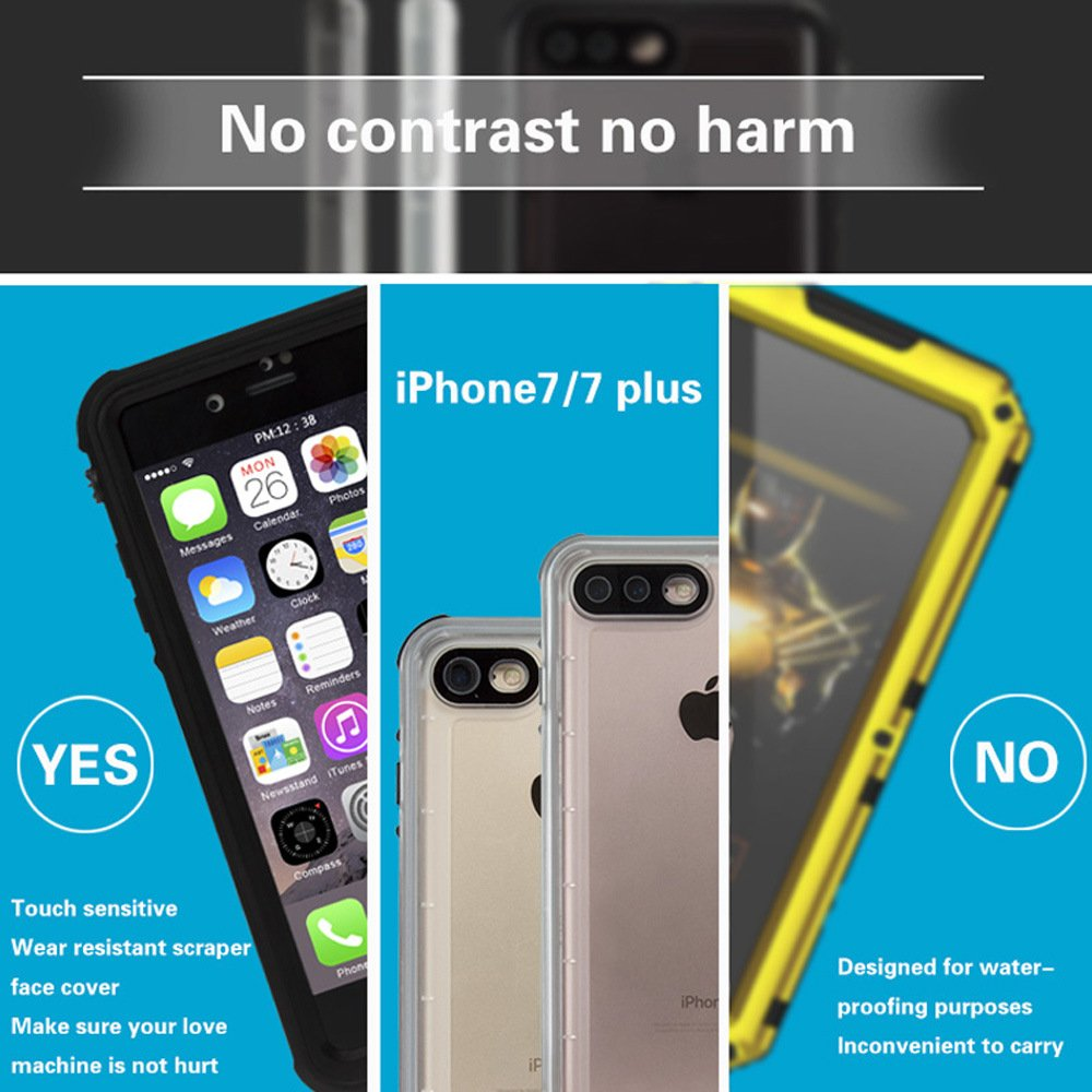 Waterproof Protective Mobile Phone Housing Case for iPhone 7/7 Plus