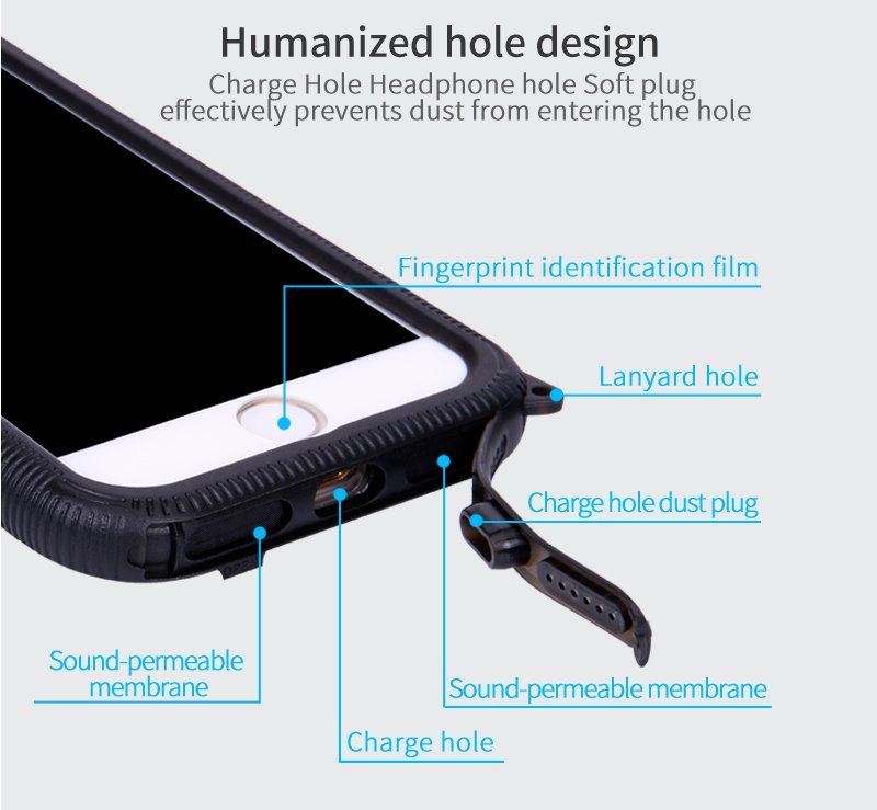 2017 New Waterproof Mobile/Cell Phone Case for iPhone 7/7plus