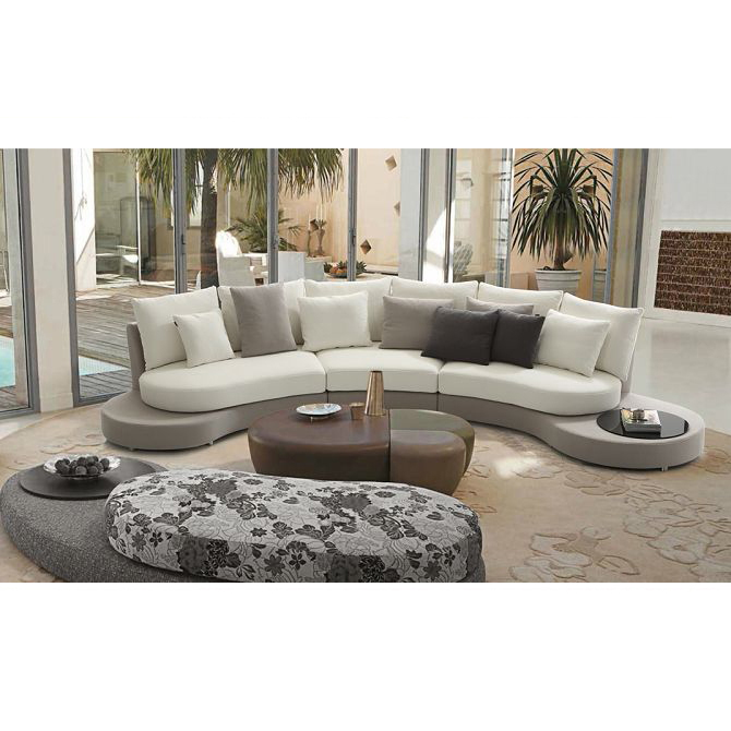 Etonnant Fancy Semi Circle Fabric Curved Sofa