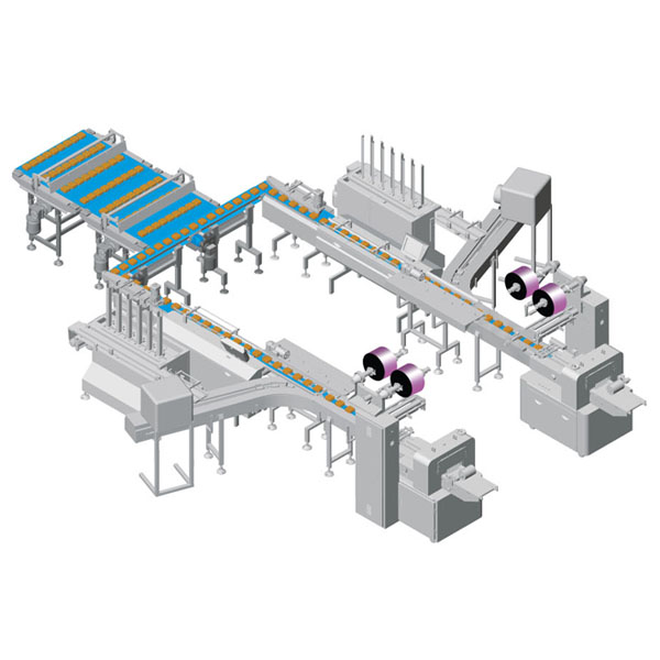 Automatic Horizontal Packing Line with Tray Dispensor