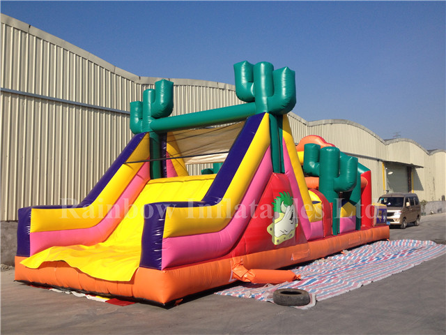 rb5037 13x4m inflatable rainbow attractive obstacle course for sale from china manufacturer. Black Bedroom Furniture Sets. Home Design Ideas