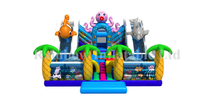 RB4117(6x6.5m) Inflatable giant sea sliding funcity inflatable jumping animal