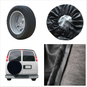 Durable PU Leather Black Autos Spare Wheel Tire Cover Protection