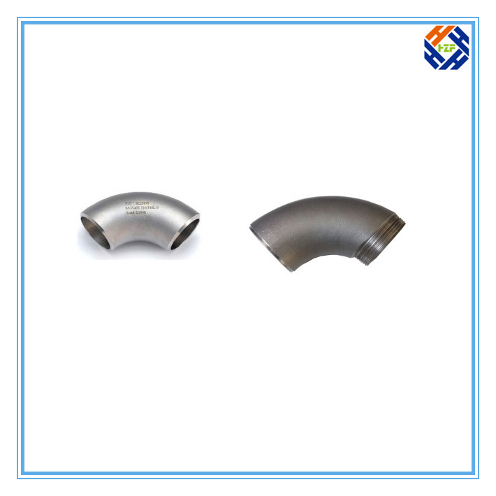 2 Ss304 Stainless Steel Elbow Pipe Fitting-6
