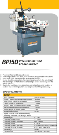 PRECISION DRILL GRINDER BP150