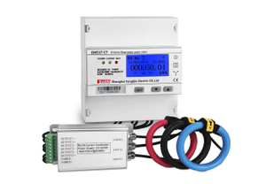 EM537 CT O series 0-7500A/330mV Rogowski three phase kWh energy meter din rail mounted