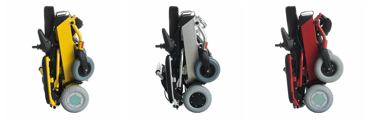 WFT-D07 lightweifht folding electric wheelchair3 colors for option