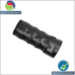 Black Anodized CNC Machined Parts for LED Flashlight Part (AH2556)
