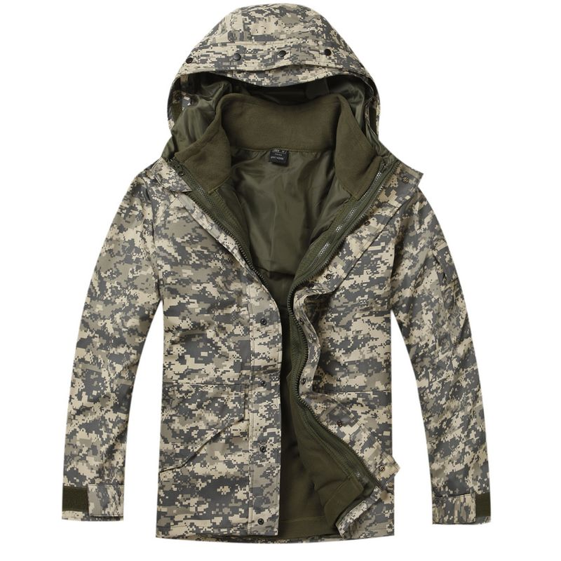 Military Cold Weather Parka with Fleece Jacket Inside