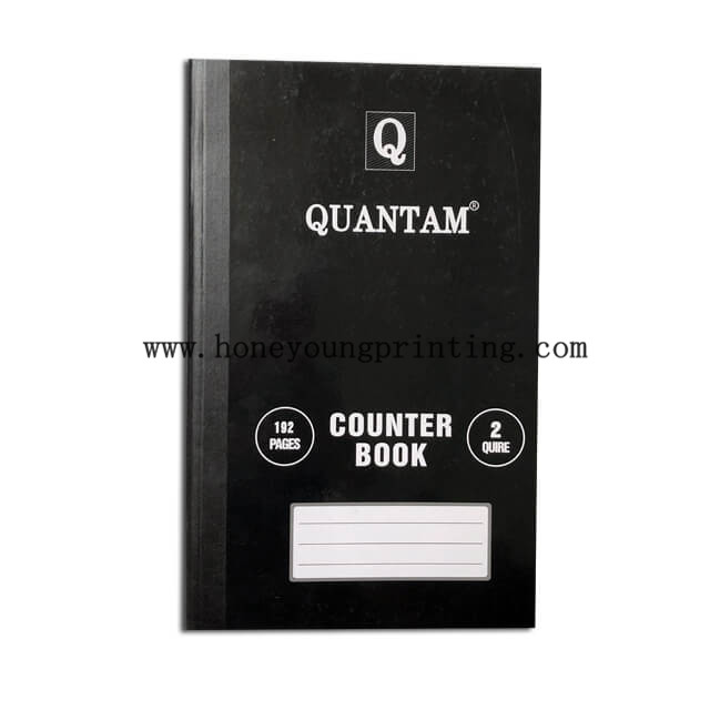 1/2/3 Quire 96/192/288 pages counter book sewing binding with black type A4 size 8mm single line with red margin