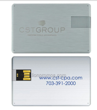 Corporate Executive Business Gift Logo Laser Engrave Metal Card USB Flash Drive