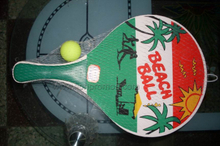 Custom Printing Beach Shore Tourism Playing Souvenir Racket Ball Set