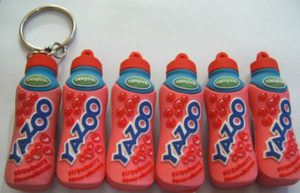3D Bottle Shape Can Beverage Promotional PVC key Chain