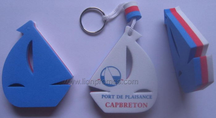 Summer Beach Swimming Floating EVA Keyring