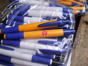 Cameroun Dairy Industry Royal Crown Logo Cheap Plastic Ball Pen