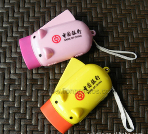 Bank Promotional Gift Hand Pressing Dynamo LED Flashlight