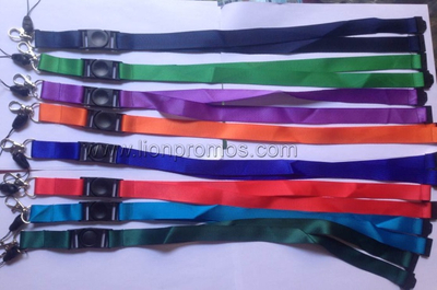 Cheap Polyester Lanyard with Safety Buckle