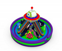 Rainbow newly design Scientific world inflatable playground