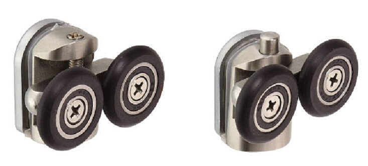 Shower door pulley