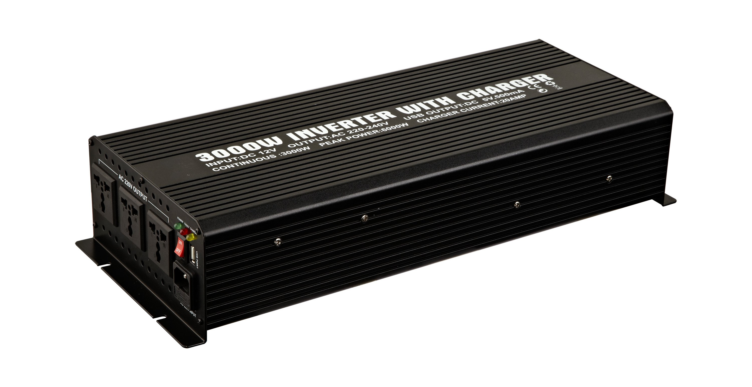 3000W Modified Sine Wave Power Inverter WITH CHARGER (3000W/20A)