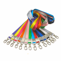 custom nylon lanyards in different colors for name badge holder
