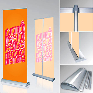 Quality Roll up Banner Stand Portable Retractable Aluminium Pull/POP/Roll up Exhibition/Fair/Tradeshow/Advertising/Promotion Display Banner Stand