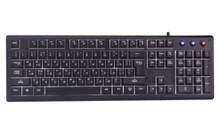 USB Gaming Keyboard Classic Design with Metal Front Panel