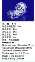 Transparent Plastic Fishing Spool
