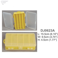 DJ0623 A/B/C Double Cover Plastic Storage Box Clear Box
