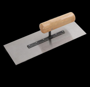 Flat Plaster Trowel for Bricklaying Work with Wooden Handle