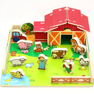 Wooden Farm Toys for Children