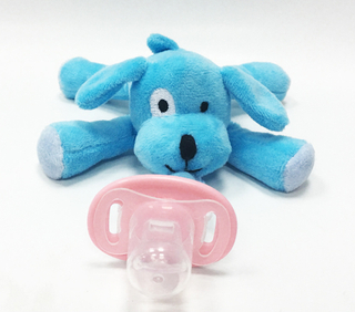 Baby Soft Toy Plush with Food Grade Material Pacifier Toy
