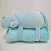 "11 "" Cute Blue Dog Toy Stuffed Animal Plush Pillow Blanket"
