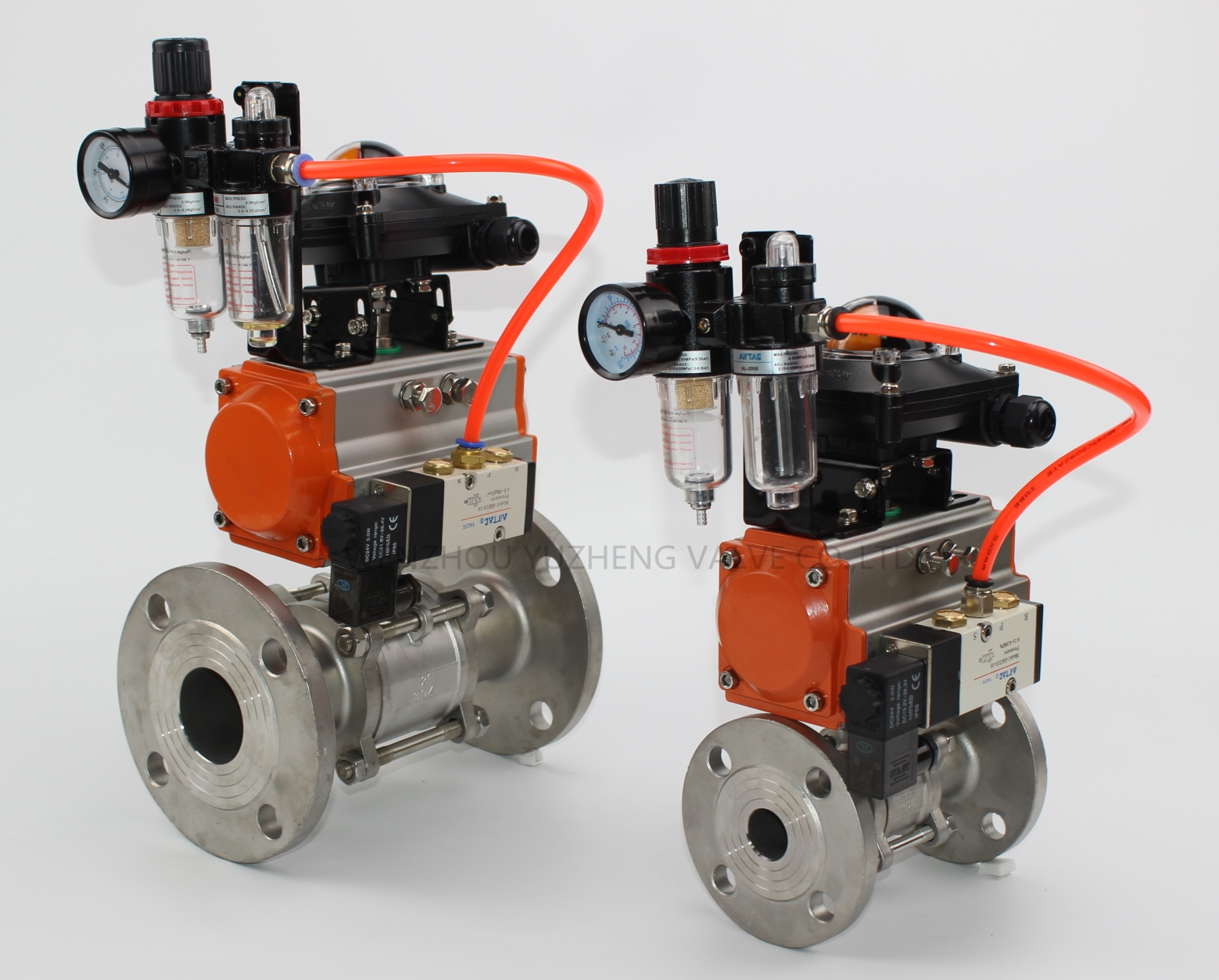 3PC Flanged Ball Valve With F.R.L Unit