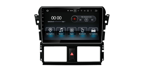 Car DVD Stereo Player for Toyota Yaris Vios 2014-2016 GPS Navi Headunit Radio SWC