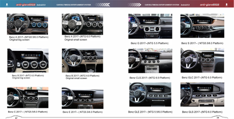 Car-navigation-box Video Interface for Mercedes Benz MBUX 6.0 A-Class GLE-Class S-Class Mirroring 4G WiFi