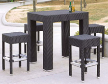 Outdoor Furniture PE Rattan Bar Stool Bar Table