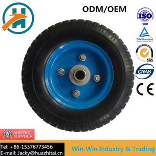 PU Foam Wheel with Metal Rim Flat Free (250-4)